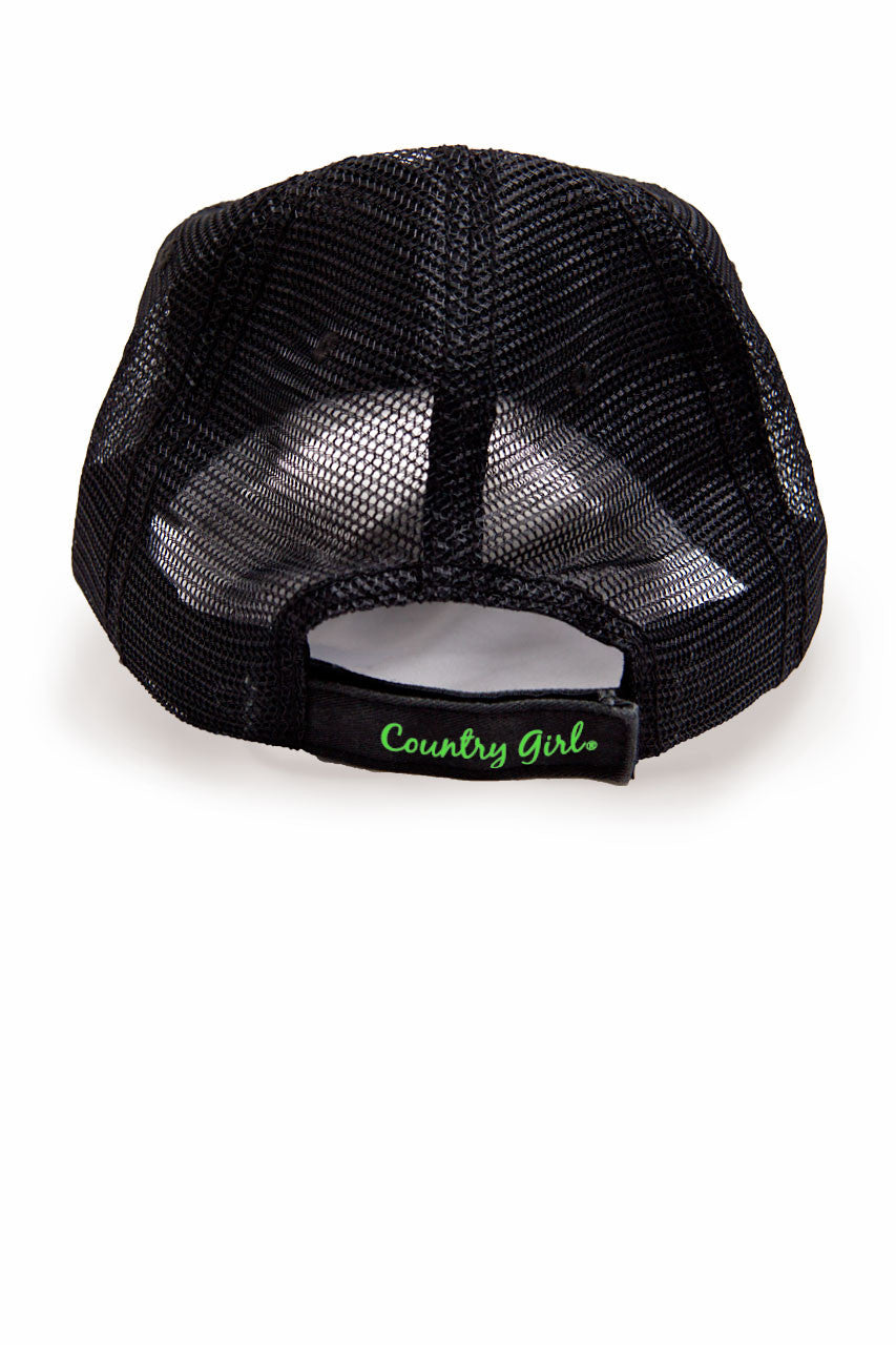 Country Girl® - Women's Deer Head Neon Green Trucker Hat