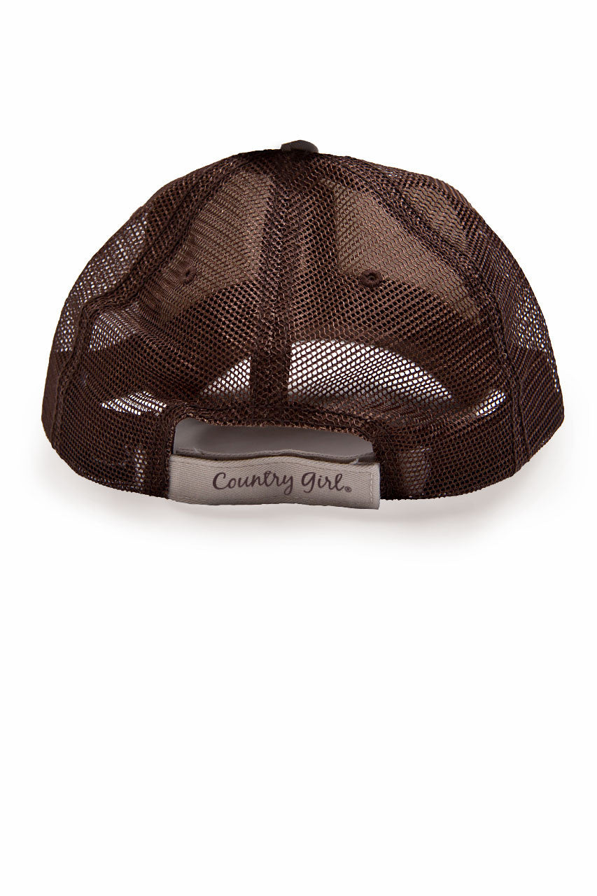 Country Girl® - Women's Deer Head Brown Trucker Hat
