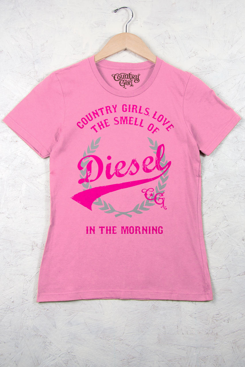 Charity Pink - Women's Smell of Diesel Short Sleeve Tee