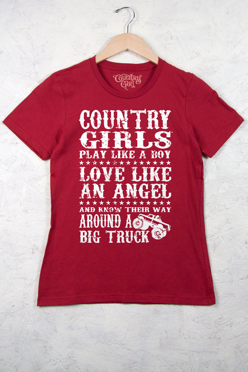 Independence Red - Women's Big Truck Short Sleeve Tee