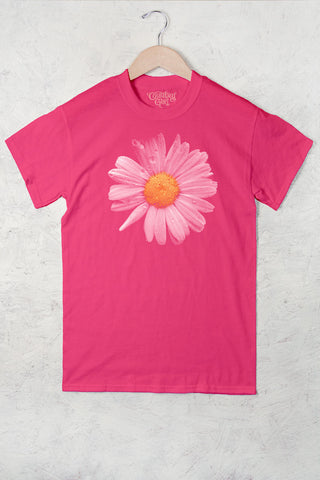 Hot Pink - Women's Daisy Full Figure Short Sleeve Tee