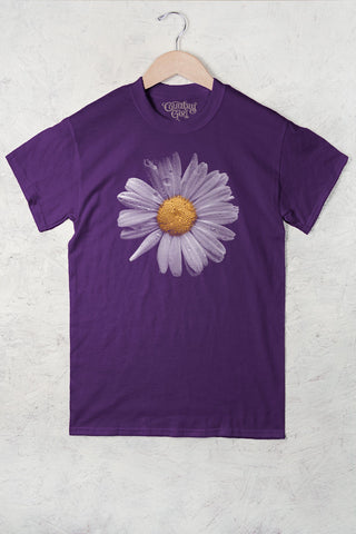 Purple - Women's Daisy Full Figure Short Sleeve Tee