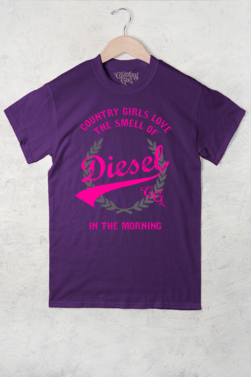 Purple - Women's Smell of Diesel Full Figure Short Sleeve Tee