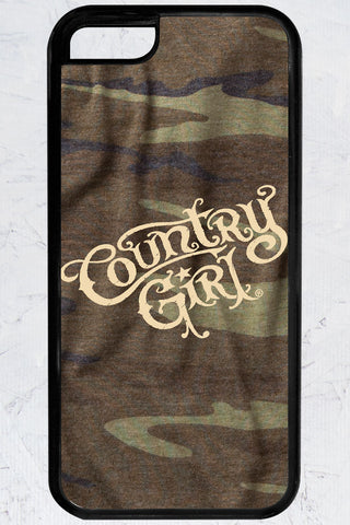Country Girl® - Green Camo Logo iPhone 5C Case