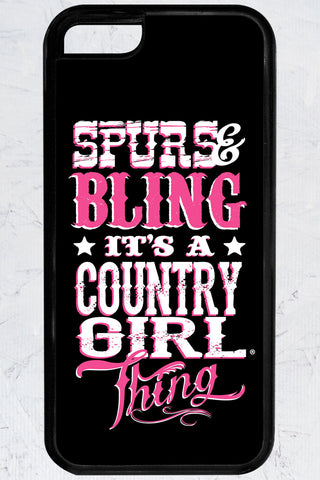 Country Girl® - Spurs and Bling iPhone 5C Case
