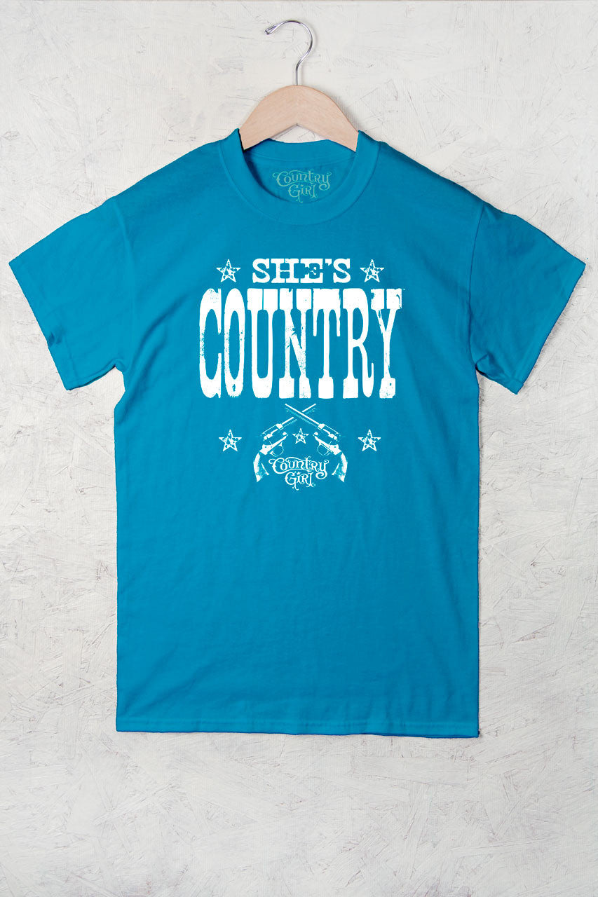 Caribbean Blue - Women's She's Country Full Figure Short Sleeve Tee