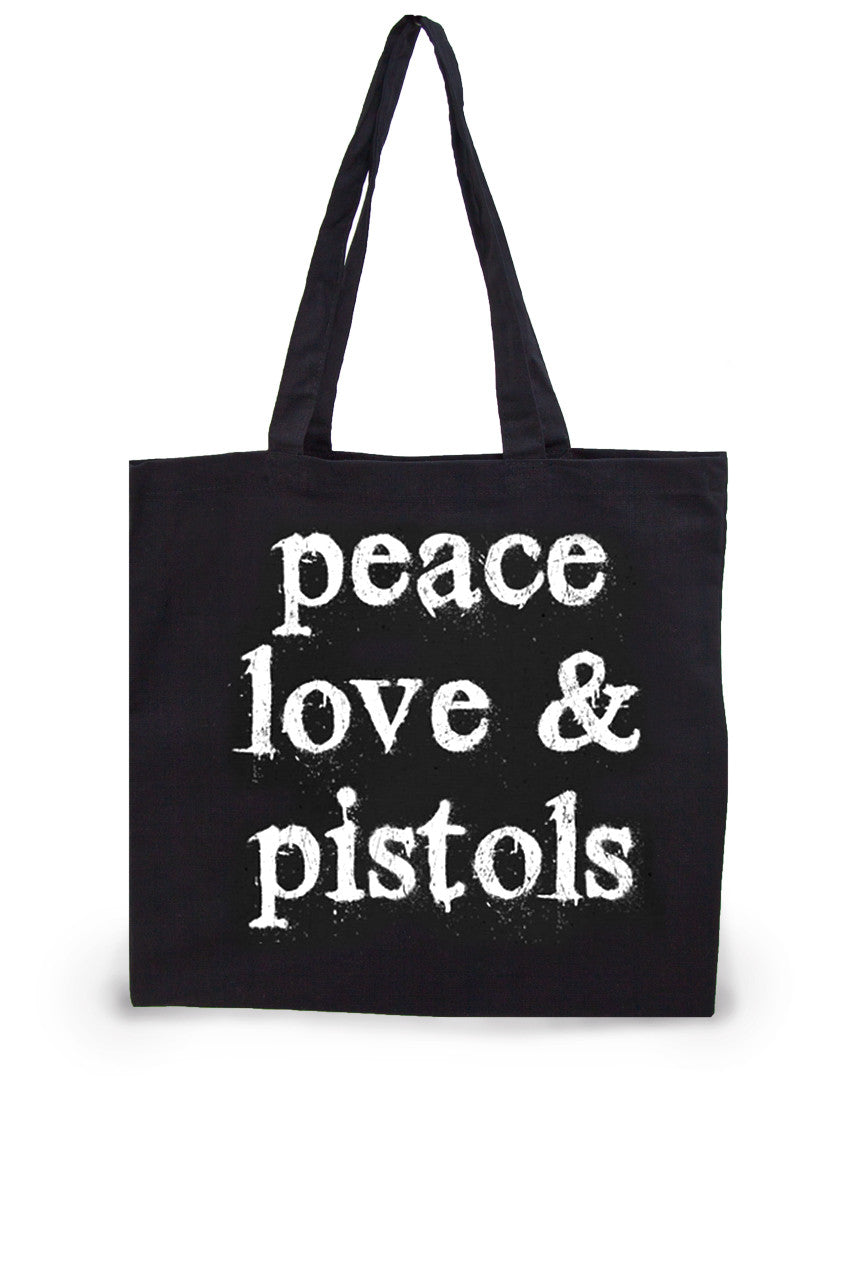 Peace Love Pistols Lightweight Tote Bag