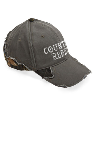 Women's Country Rebel Frayed Mossy Oak® Cap
