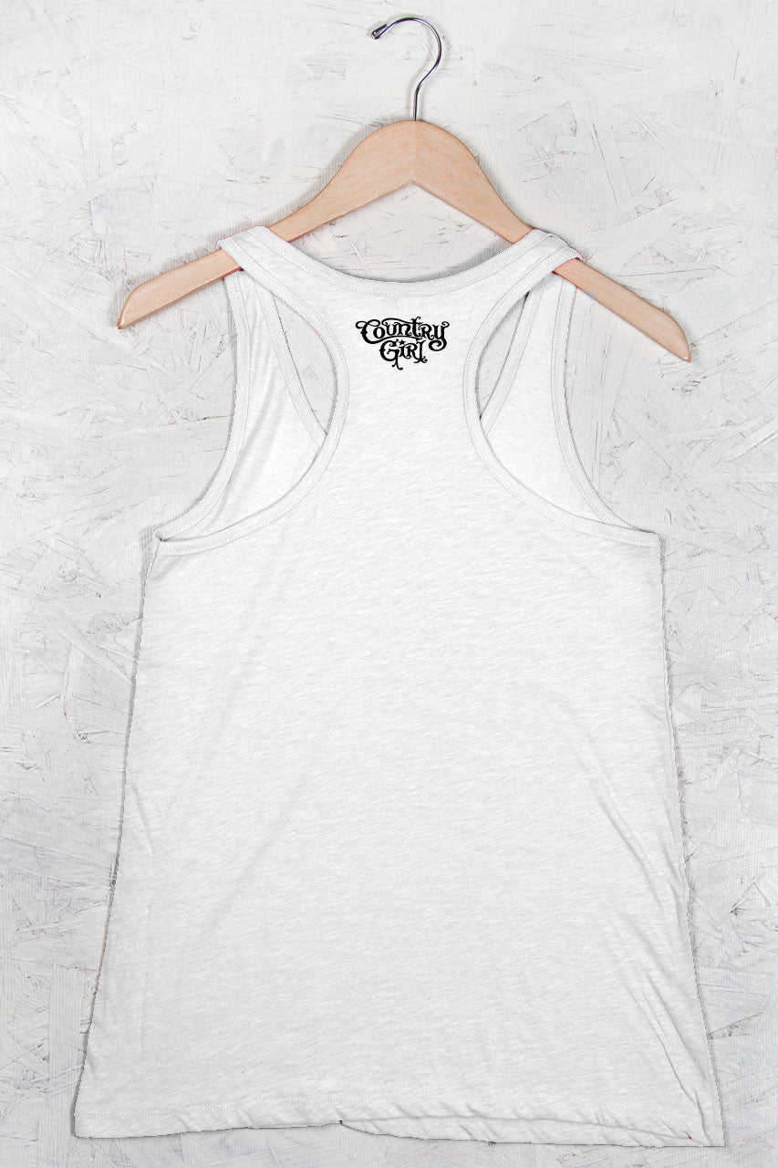 Country Girl® - Women's Deer Head Flowy Racerback Tank