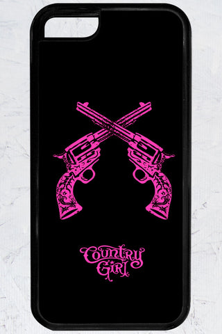 Country Girl® - Crossed Guns iPhone 5C Case