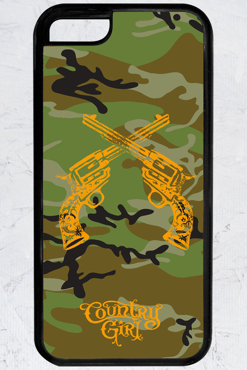 Country Girl® - Camo Crossed Guns iPhone 5C Case