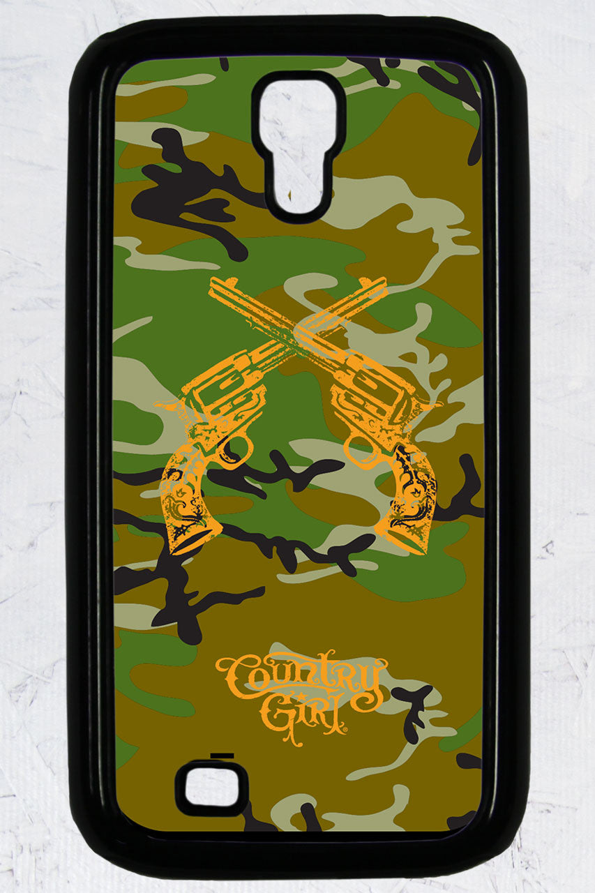 Country Girl® - Camo Crossed Guns Galaxy S4 Phone Case