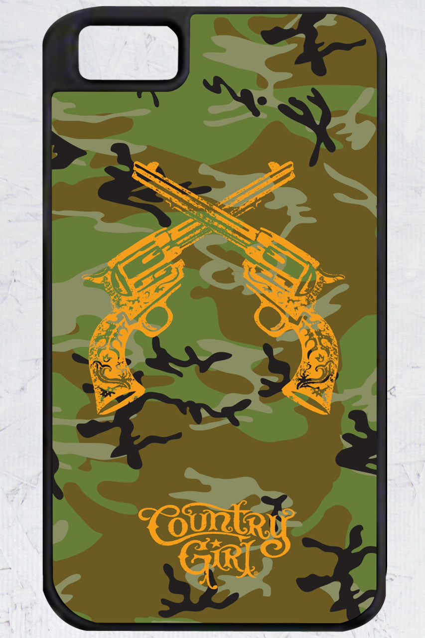 Country Girl® - Camo Crossed Guns iPhone 4/4s Case
