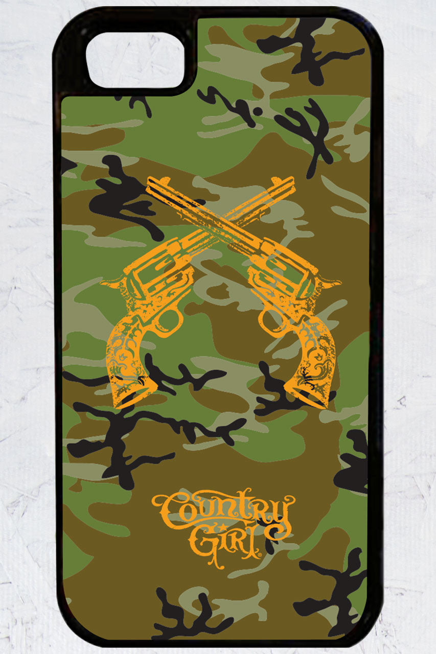 Country Girl® - Camo Crossed Guns iPhone 5/5s Case