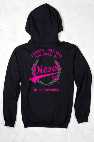 Black - Women's Smell of Diesel Relaxed Pullover Hoodie
