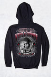 Black - Men's White Lightning Pullover Hoodie