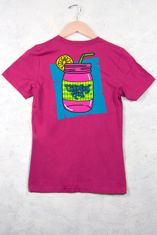 Hot Pink - Women's Mason Jar Short Sleeve Tee