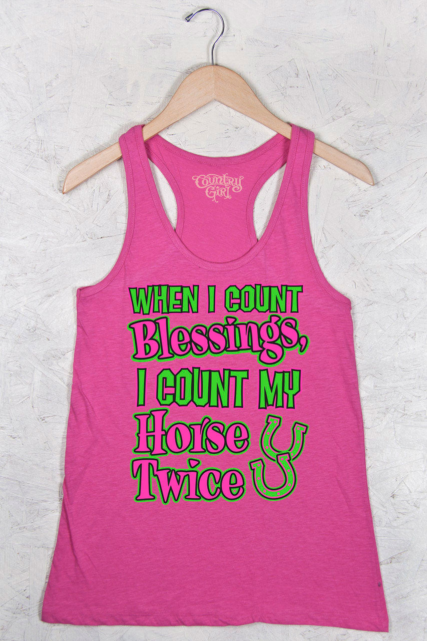 Hot Pink - Women's Blessings Flowy Racerback Tank
