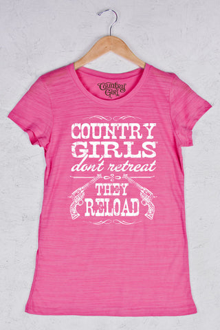 Hot Pink - Women's Reload Triblend Crew Neck Tee