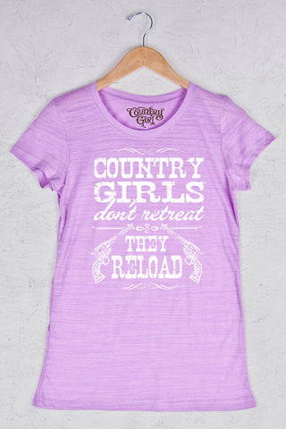 Hot Violet - Women's Reload Triblend Crew Neck Tee