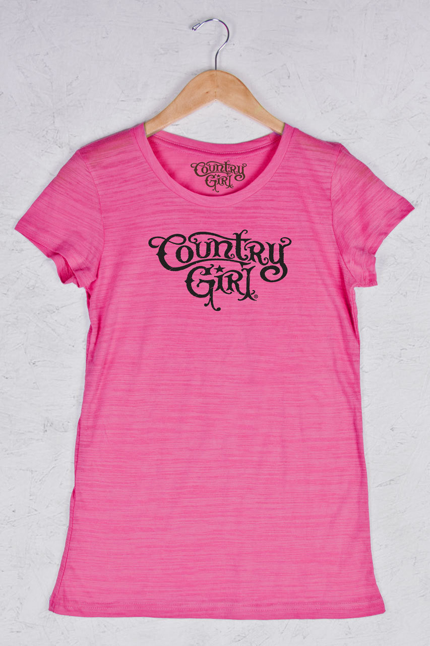 Hot Pink - Women's Logo Triblend Crew Neck Tee