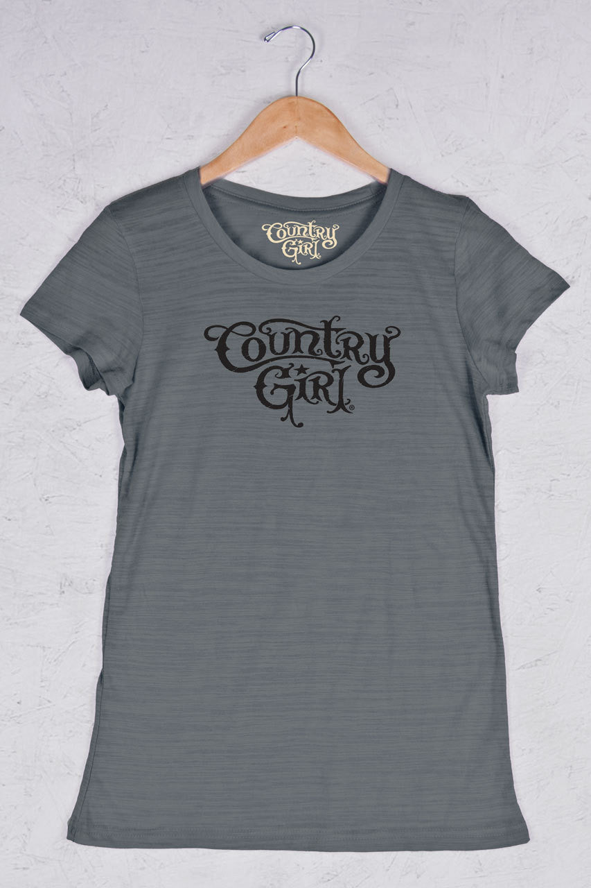 Graphite - Women's Logo Triblend Crew Neck Tee