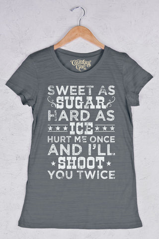 Graphite - Women's Shoot Twice Triblend Crew Neck Tee