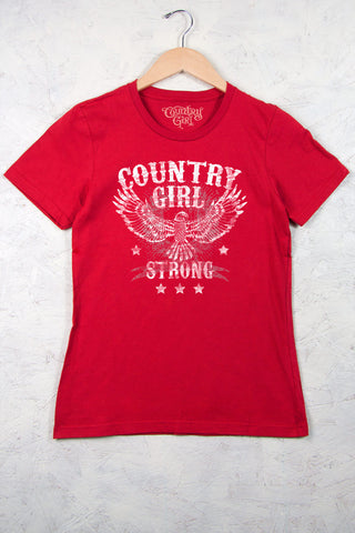 Red - Women's Strong Short Sleeve Tee