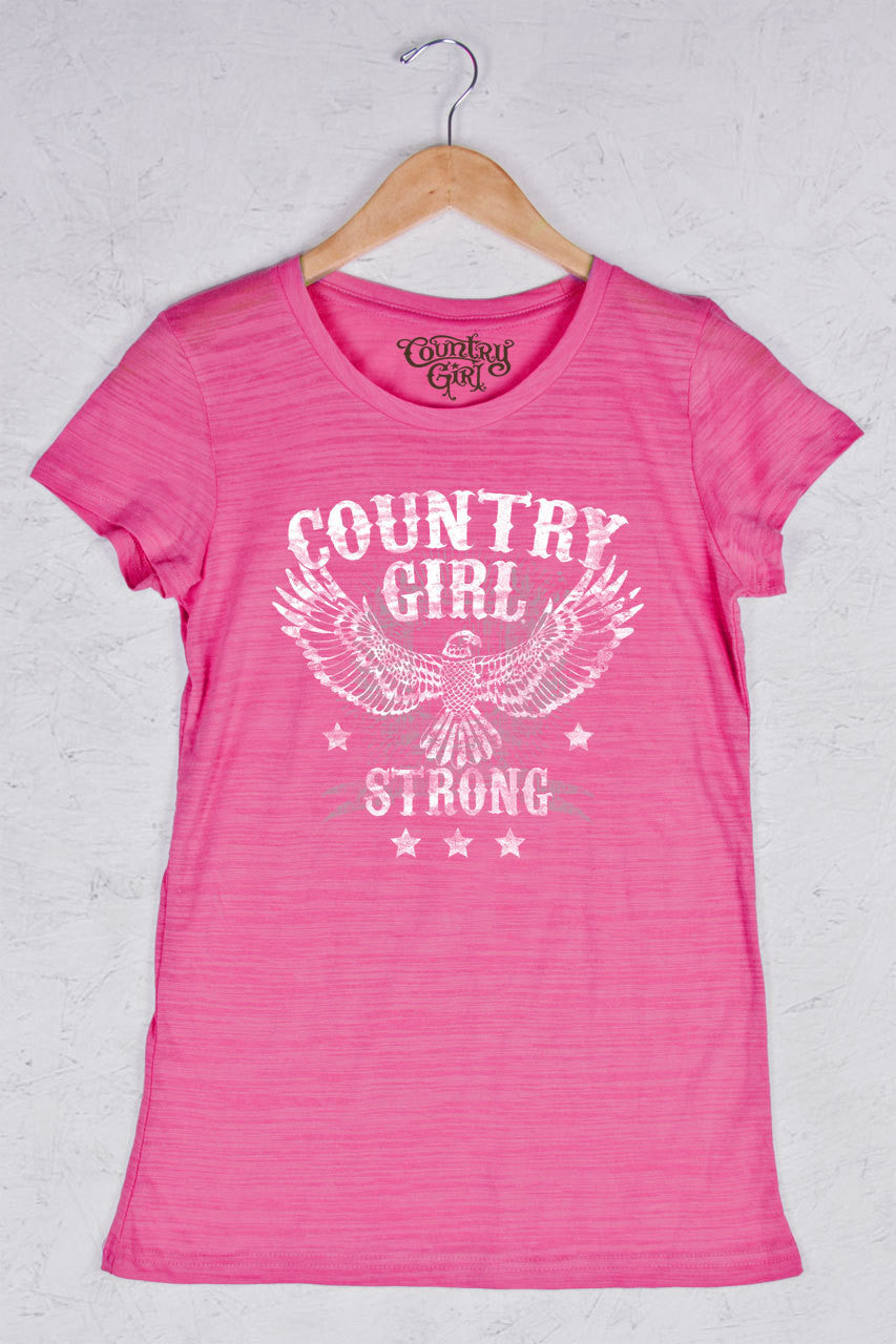 Hot Pink - Women's Strong Triblend Crew Neck Tee
