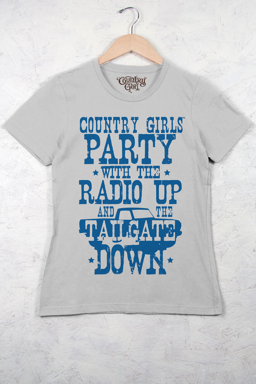 Silver - Women's Tailgate Down Short Sleeve Tee