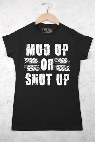 Black - Juniors Mud Up Short Sleeve Tee