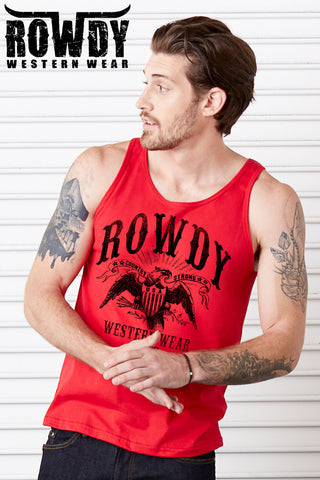 Red - Men's Country Strong Eagle Tank