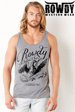 Deep Heather - Men's Country Strong Guitar Tank