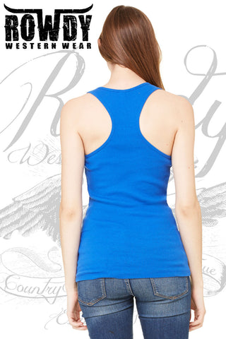 Rowdy Western Wear - Juniors Bad to the Bone Racerback Tank