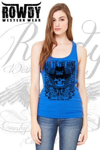 True Royal - Juniors Bad to the Bone Racerback Tank