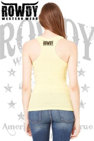 Rowdy Western Wear - Juniors Old Wooden Cross Racerback Tank