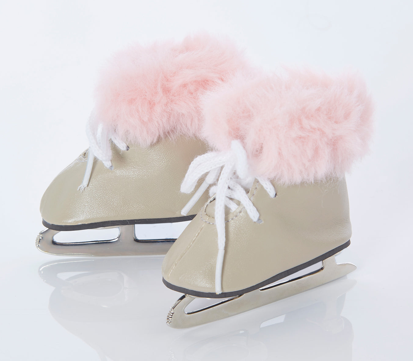 Dolls furry ice skates