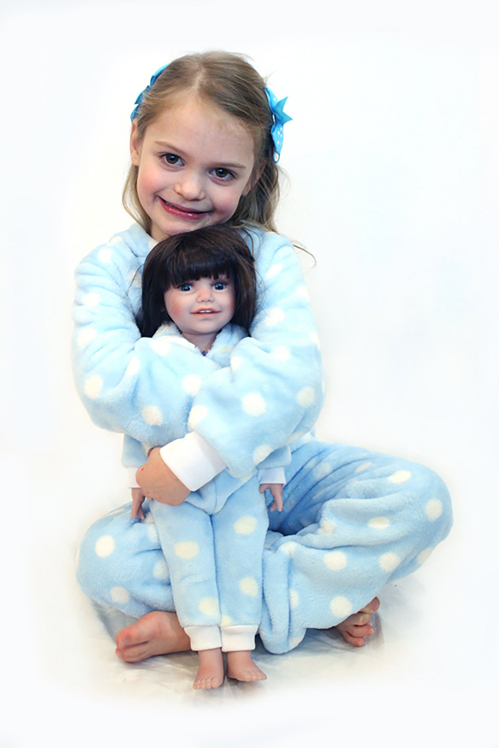 Twin Onesies set (Child age 4-6) & Dolls onesie