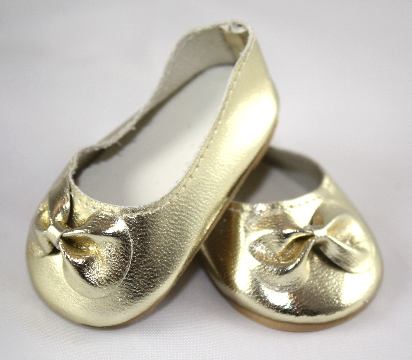 Gold ballet pumps