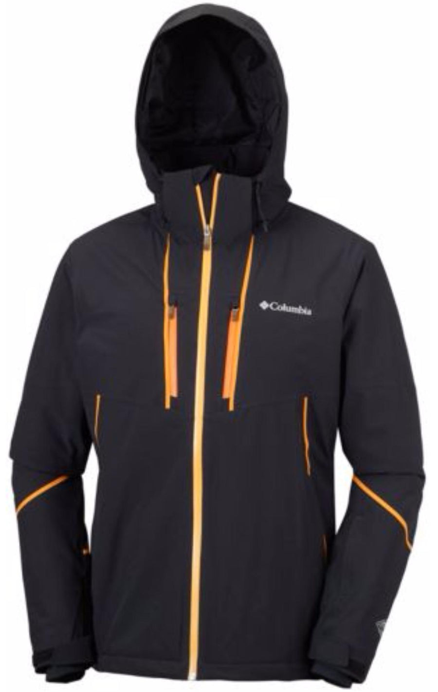 Herren Skijacke MILLENNIUM BLUR von Columbia in Schwarz / Orange-Men's Jacket-Columbia-Black-M / EU50-SkiGala