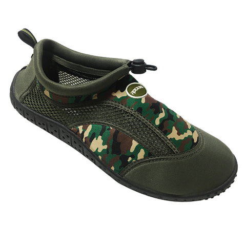 ROCKIN AQUA CAMO Ladies Aqua Socks / Water Shoes  R-L508G (Green)