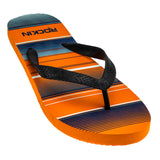 ROCKIN STRIPED STEP Men's Flip Flops  R-M203, Orange