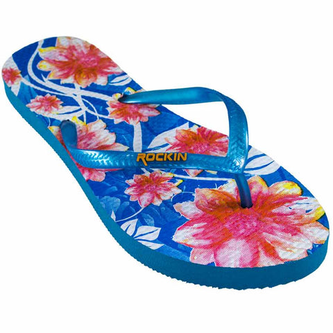 Blue Floral, Summer Collection Flip Flop, RK-L131