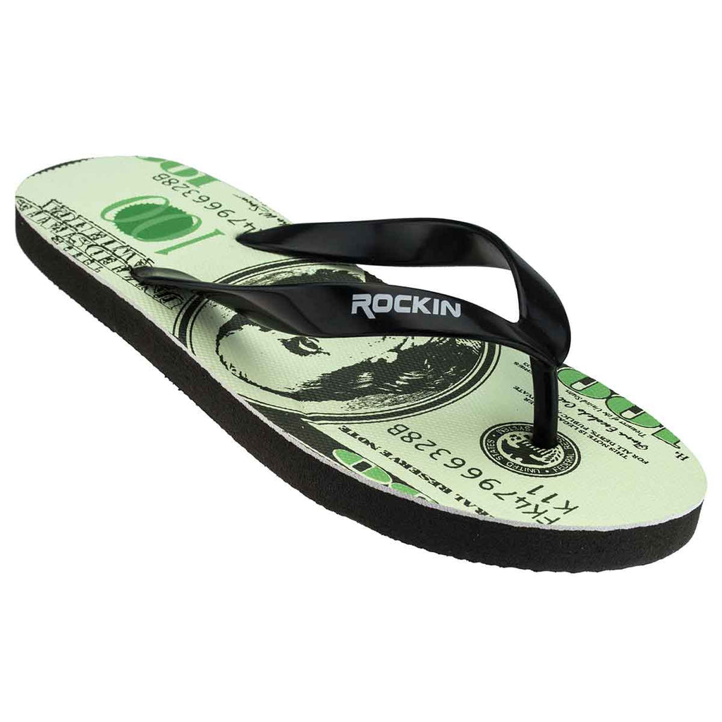 Womens flip flops sandals 100 dollar bill design rockin footwear rockin footwear rockin dollar publicscrutiny Image collections