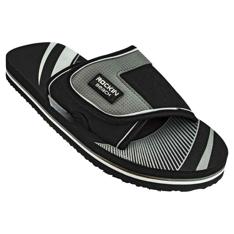 Slides, BLACK Men's Silde Sandal, RK-M46B
