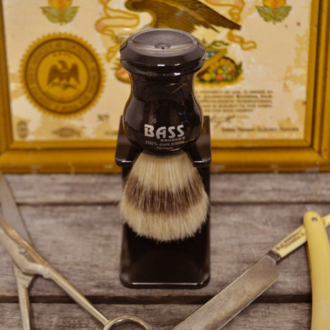 Bass Black Shave Brush