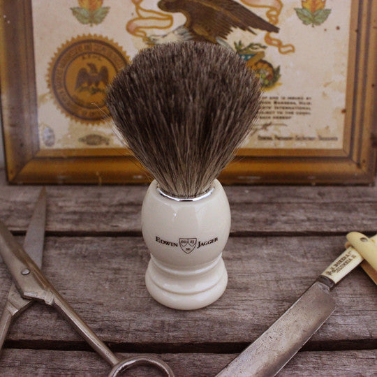 Edwin Jagger Off White Shave Brush