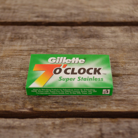 Gillette 7 O'Clock DE Super Stainless Blades