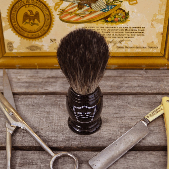 Parker Black Handle Shave Brush