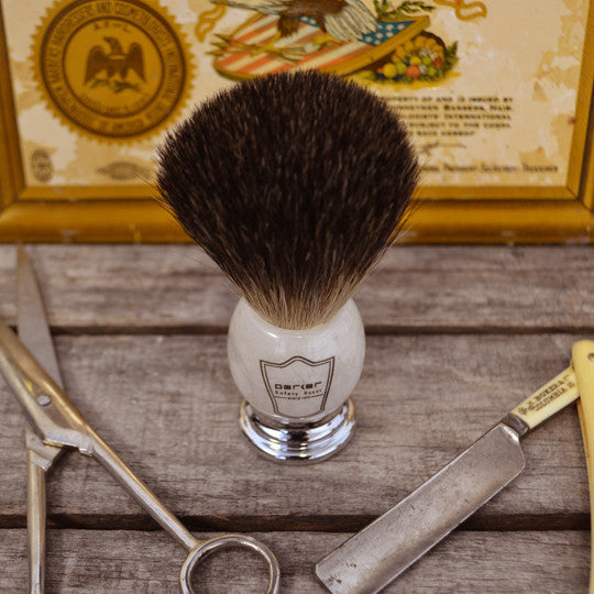 Parker Ivory Handle Shave Brush